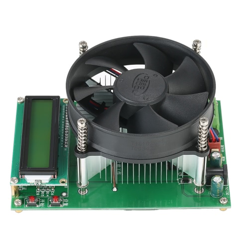 150W Konstantstrom Elektronische Last 60V 10A Batterie Entladekapazität Tester Modul mit 1602 LCD-Display