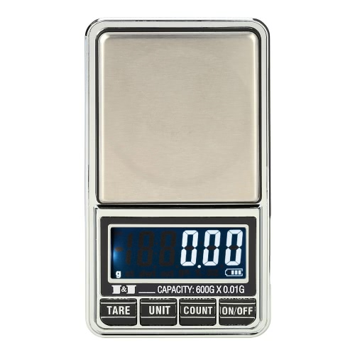 Meterk Professional Mini Digital Scale Jewelry Electronic Pocket Scale Precision Balance 600g*0.01g / 1000g*0.1g