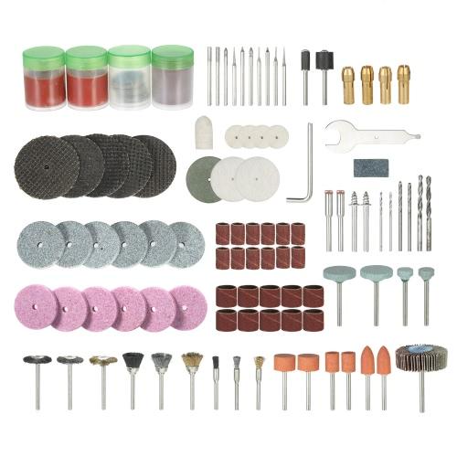 "136PCS 1/8 ""Shank Rotary Tool Acessórios Set Sanding Polishing Grinding Bit de acessório de corte para Dremel Grinder"