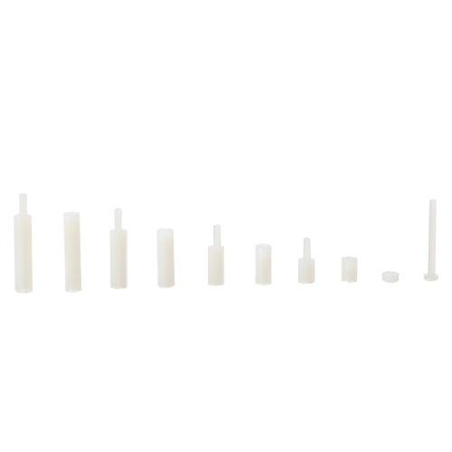 Белый / Черный Пластиковый нейлон M3 / M2 Шестигранный стопорный штырь Филлипс Винт Мужской-Женский Распорки Винты Гайки Ассортимент Монтажный комплект с пластиковой коробкой