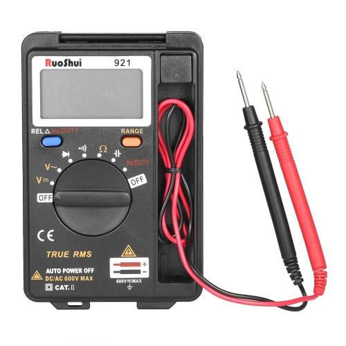RuoShui Portable Pocket 3999 Counts Auto Range True RMS Multi-functional Digital Multimeter
