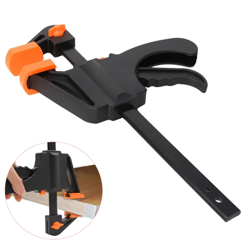 4/6/8 Inch Woodworking Bar Fast F Clamping Grip Quick Ratchet Release Squeeze Carpentry Wood Trigger Clamps Plate Hand Ratchet Bar Tool Clip
