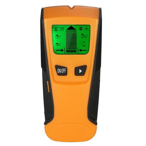 Многофункциональный жидкокристаллический цифровой настенный детектор Металлический деревянный штифт Finder AC Cable Live Wire Scanner
