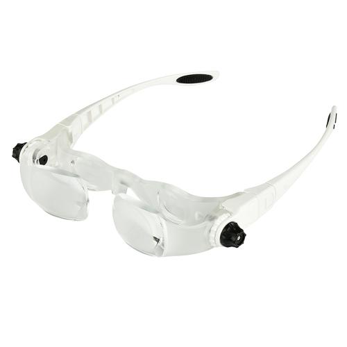 Serre-tête 4.0X Bracket Lunettes TV Loupe Lunettes Loupe Loupe avec porte-téléphone Étui à lunettes