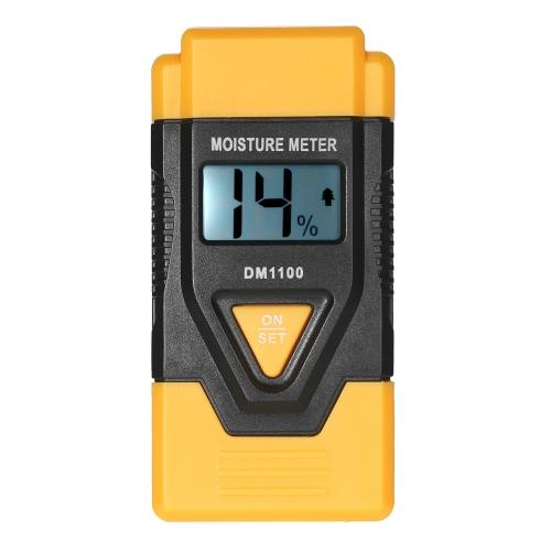 Mini 3 em 1 LCD Digital Wood Building Materials Medidor de umidade Detector de umidade Tester com temperatura ambiente Medição