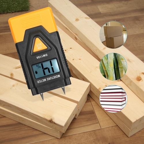 Mini 3 in 1 LCD Digital Wood Building Materials Moisture Meter Humidity Tester
