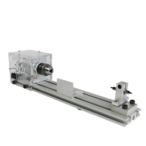 Máquina de rebordear Mini bricolaje Torno de la carpintería en miniatura Buda Perla Torno Rectificado y pulido de cuentas Pequeño corte redondo 24V DC 80W