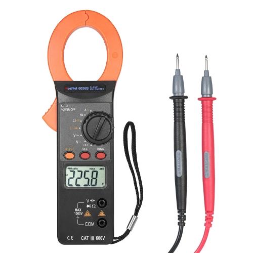 RuoShui 3999 Counts Handheld Digital Clamp Meter Multímetro AC / DC Voltagem 2000A Atual Display LCD portátil Teste Capacitância Resistência Frequência Diodo Hz Tester