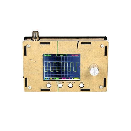 """DSO328 2.4 """"TFT Handheld Pocket-size Digital Mini Osciloscópio DIY Kit Peças com Case SMD Soldered Electronic Learning Set 1Msps 0-200KHz STM32 Chip"""