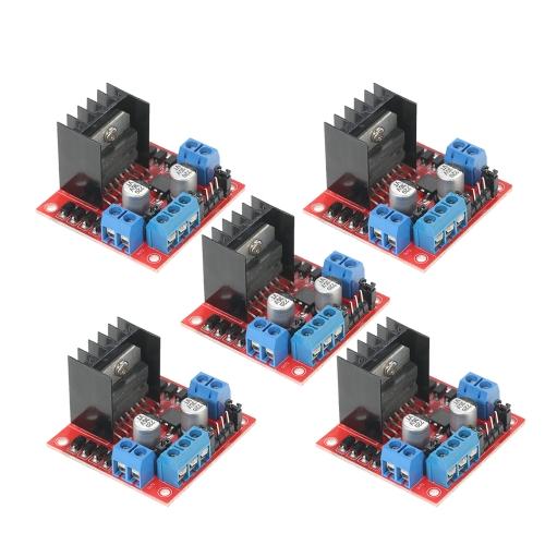 5本のL298NデュアルHブリッジDCステッパモータドライブコントローラボードモジュール