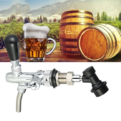 Adjustable Flow Chrome Draft Beer Faucet Tap