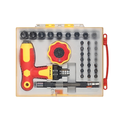 34pcs Multi-functional Screwdrivers Sockets Set