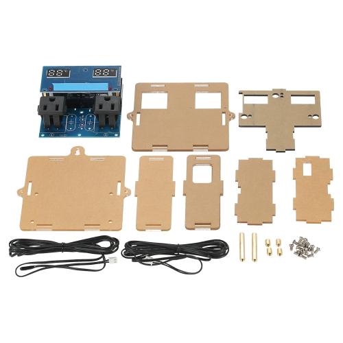 GeekTeches LED de alta precisión del controlador de temperatura digital Termostato Kit de bricolaje para la acuicultura con la caja y el control de doble canal / sonda del sensor a prueba de agua