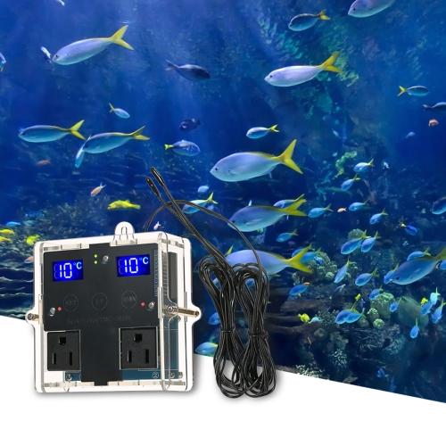 GeekTeches Высокоточный светодиодный цифровой контроллер температуры 【Комплект DIY】