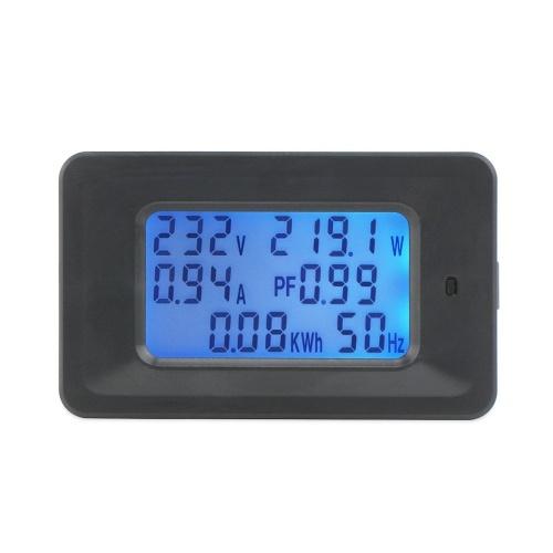 Misuratore di tensione digitale 20A Misuratore di energia LCD 5KW Fattore di potenza Misuratori di frequenza di energia Voltmetro Amperometro Amperometri Watt Meter Tester Indicatore di rilevamento