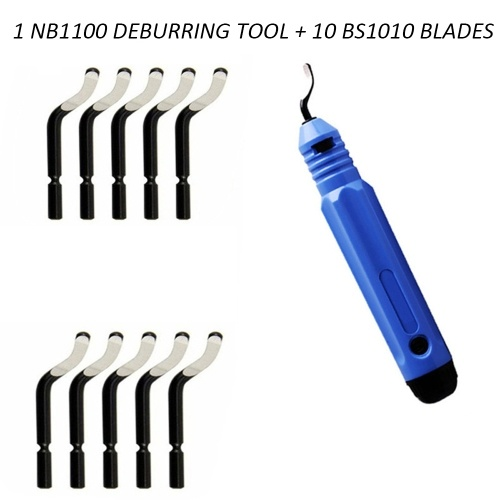 Handheld Burr Trimming Cutter NB1100 Portable Deburring Tool Professional Edge Removing Tools+10pcs BS1010 Replacement Blade