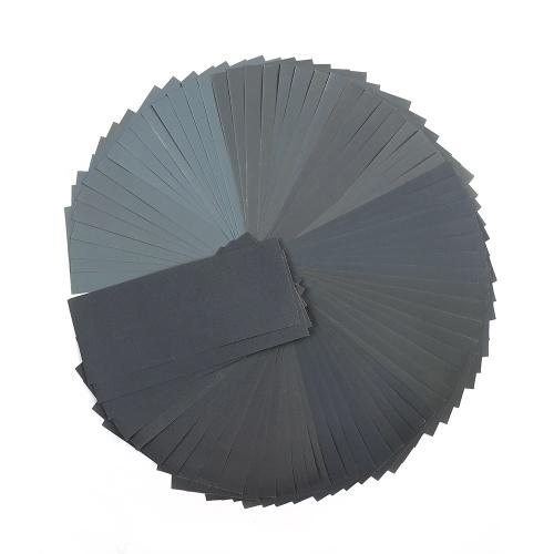 LANHU da 400 a 3000 Grit secco / carta vetrata bagnata per la finitura di mobili in legno Levigatura di metalli e lucidatura di autoveicoli 9 * 3,6 pollici 72 fogli