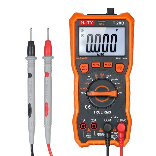 NJTY Digital-Multimeter 6000 zählt Auto-Bereich berührungsloses Multimeter