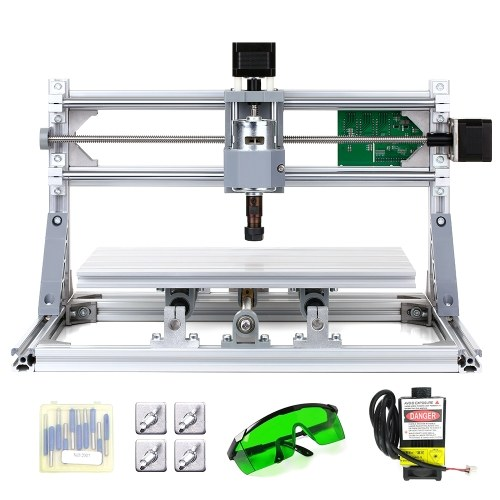 Cnc3018 Diy Cnc Router Kit 2 In 1 Mini Laser Engraving Machine 500mw Laser Head