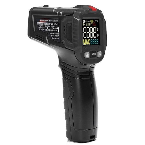 WinAPEX-Handheld Berührungsloses Infrarot-Digital-Thermometer -50 bis 600 Grad Celsius mit VA Colorful Screen 12-Punkt-Temperaturtestbereich Anzeige Temperaturdifferenzalarm und einstellbare Reflektivität