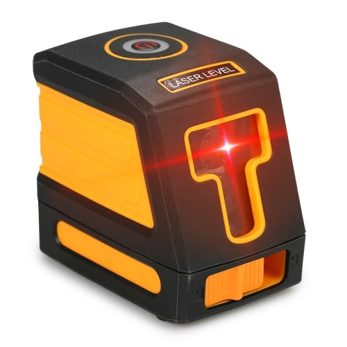 AK435 Mini Portable 3D Self-Leveling Red Laser Level Device 360 Distance Meter