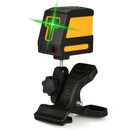 Self-Leveling 2 Lines Green Laser Level Professional Horizontal and Vertical Cross Line Leveling Laser Level Kit with Selectable Laser Lines and Vertical Beam Spread