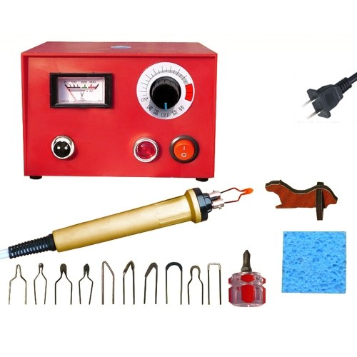 Adjustable Temperature Wood Burning Machine Set 25W Pyrography Pen Machine Kit Handle Wood Crafts Burning Tools Electric Soldering Iron