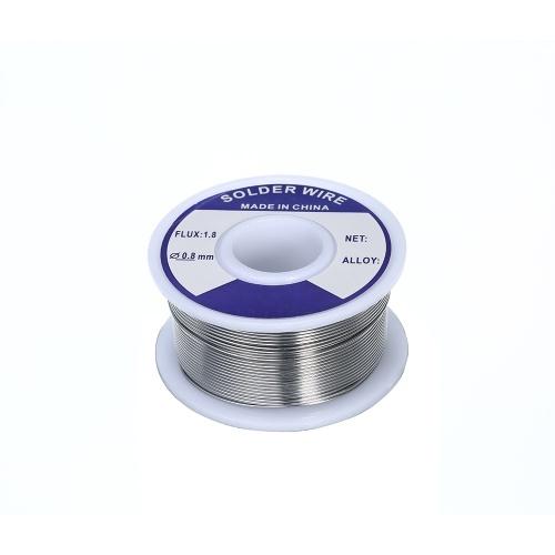 Imagem de 0.8mm / 1mm 100g Fluxo 1.8% Estanho Chumbo Derreter Rosin Solda De Solda Núcleo de Fio de Solda Carretel De Ferro