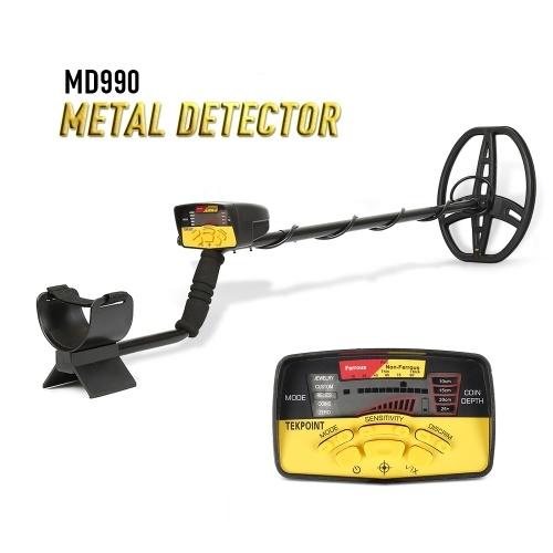 MD990ポータブル簡単インストール地下金属探知機高感度ジュエリー宝探しゴールドメタル検出ツール付き液晶ディスプレイ