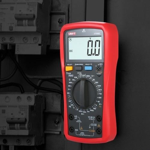 UNI-T UT890C Цифровой мультиметр True RMS Ручной мини-универсальный измеритель AC Вольтметр постоянного тока Амперметр Мера высокой точности Напряжение переменного / постоянного тока Ток Сопротивление Емкость Частота Температура Диодный тестер фото