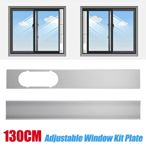 2Pcs Window Slide Kit Plate for Portable Air Conditioner Adjustable Window Air Sealing Plate