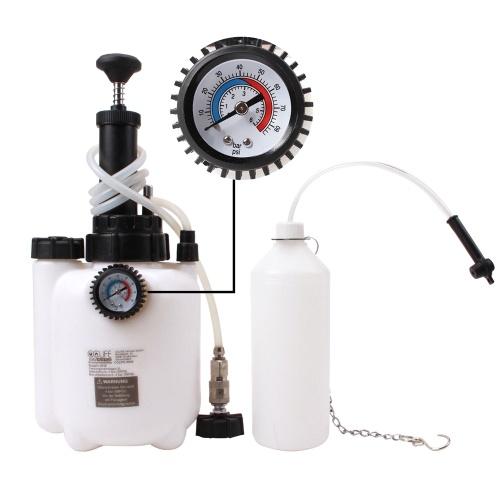 Портативный инструмент для замены тормозной жидкости для домашнего использования.