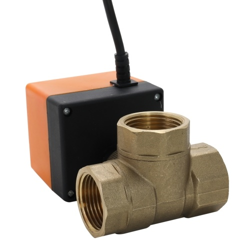Full Port 2 Way Electric Water Valve 3 Wire Dn40 For Water Control