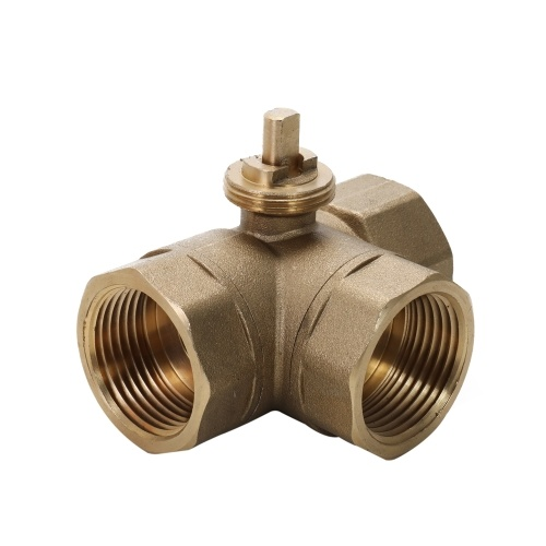 Motorized Ball Valve DC 24V 3 Way 3-Wire Electric Control Brass Thread Stable Air-conditioning Water System Controller