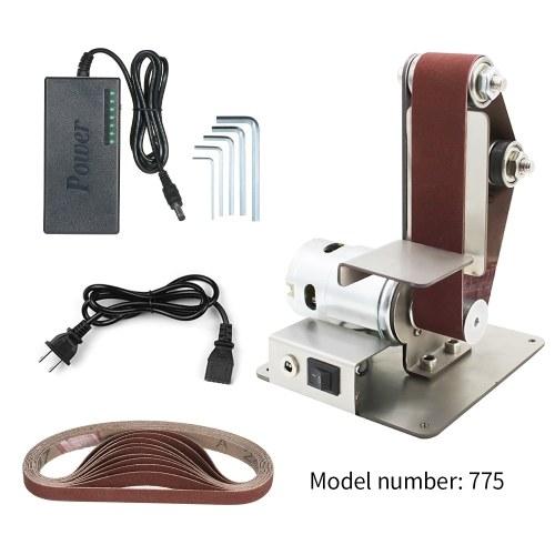 Vertikale Sandbandmaschine, Mini-Sandbandmaschine, DIY-Polier- und Poliermaschine, Tischschärfmaschine mit festem Winkel