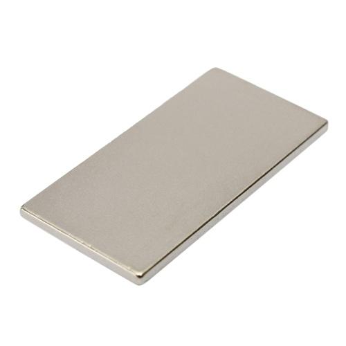 1ピースN35グレード直方体ブロックマグネット40×20×2ミリメートル超強力希土類ネオジム磁性鉄