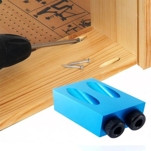 1/8/14/28/31/34PCS 15° Pocket Hole Screw Jig with Dowel Drill Carpenters Woodworking Drill Guide Woodworking DIY Tool