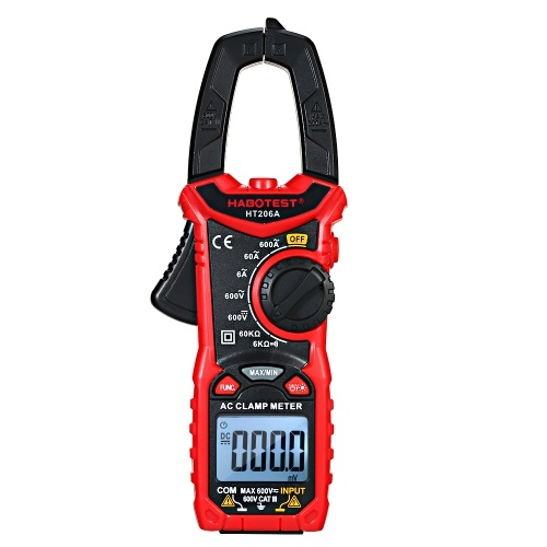 HABOTEST AC/DC Digital Clamp Meter for Measuring AC/DC Voltage , AC/DC Current, Frequency, Duty Cycle, Diode, Resistance, Continuity, Transistors  Test, NCV Clamp Multimeter