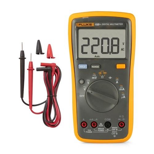 FLUKE F15B + 4000カウントマルチメータポータブルデジタルマルチメータハンドヘルド電圧計電流計電圧計ユニバーサルメータ測定AC / DC電圧抵抗キャパシタンスダイオード導通