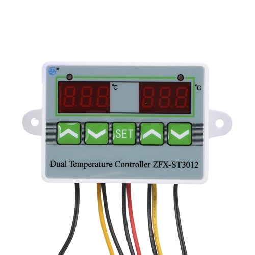 Microcomputer Intelligent Digital Temperature Controller with Dual Display ZFX-ST3012 12V/120W Electric Thermostat Temperature Control Switch