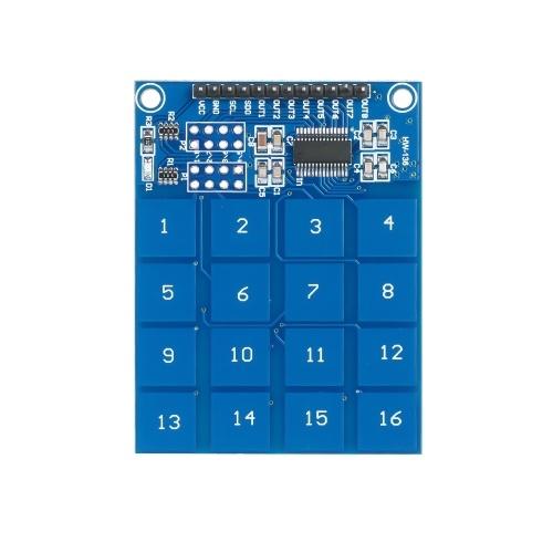 TTP229 Módulo de interruptor capacitivo de 16 canais Módulo de sensor de toque digital Módulo de sensor de toque Placa de circuito impresso