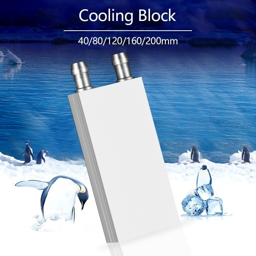 40*40mm Aluminum Liquid-Water Cooling Block For Computer CPU Radiator for PC And Laptop CPU Heatsin System фото