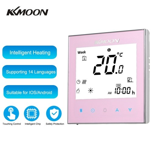 KKmoon Digital Water Heating Thermostat Energy Saving AC 95-240V 5A Touching Screen LCD Display Room Temperature Controller