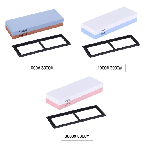 1000/3000 Grit Sharpening Stone Double-sided Grindstone for Outdoor Kitchen Cutter Sharpener Whetstone