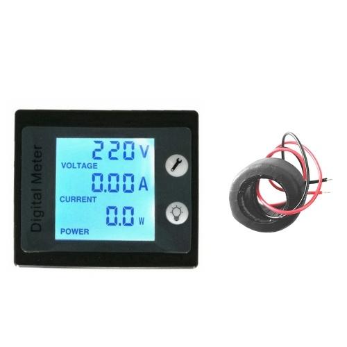 AC 80-260V 100Aデジタル表示パネルメーター電圧計電流計電力エネルギーゲージ
