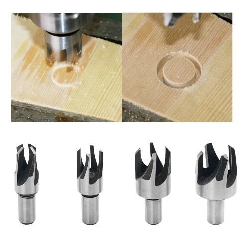 Набор инструментов с цилиндрическим хвостовиком с цилиндрическим хвостовиком Набор пробковых сверл из высокоуглеродистой стали, 4шт (6мм / 10мм / 13мм / 16мм) фото