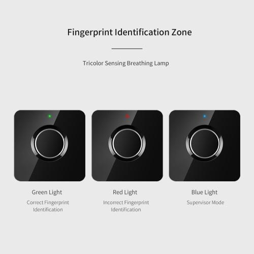 Smart Fingerprint Lock Quick Unlock USB Rechargeable Theft Prevention Intelligent Automatic Security Fingerprint Lock Black
