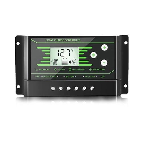 Multi-Schutz Portable Solar Controller 12V / 24V Doppel-USB-Schnittstelle PWM Straßenlaterne Intelligente Laderegler
