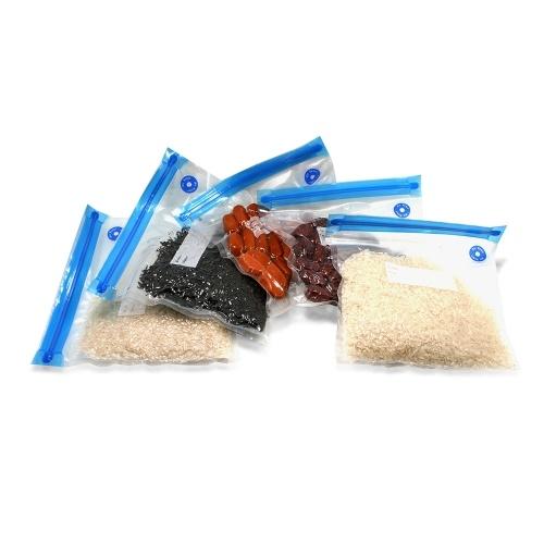 5pcs/set Vacuum Storage Bags Transparent Space Saver Seal Bag for Food Comforters Pillows
