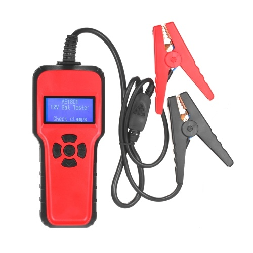 Digital Battery Analyzer AE1801 Car Battery Tester Battery Capacity Testing Device Digital Electric Load Charging System Detect Car